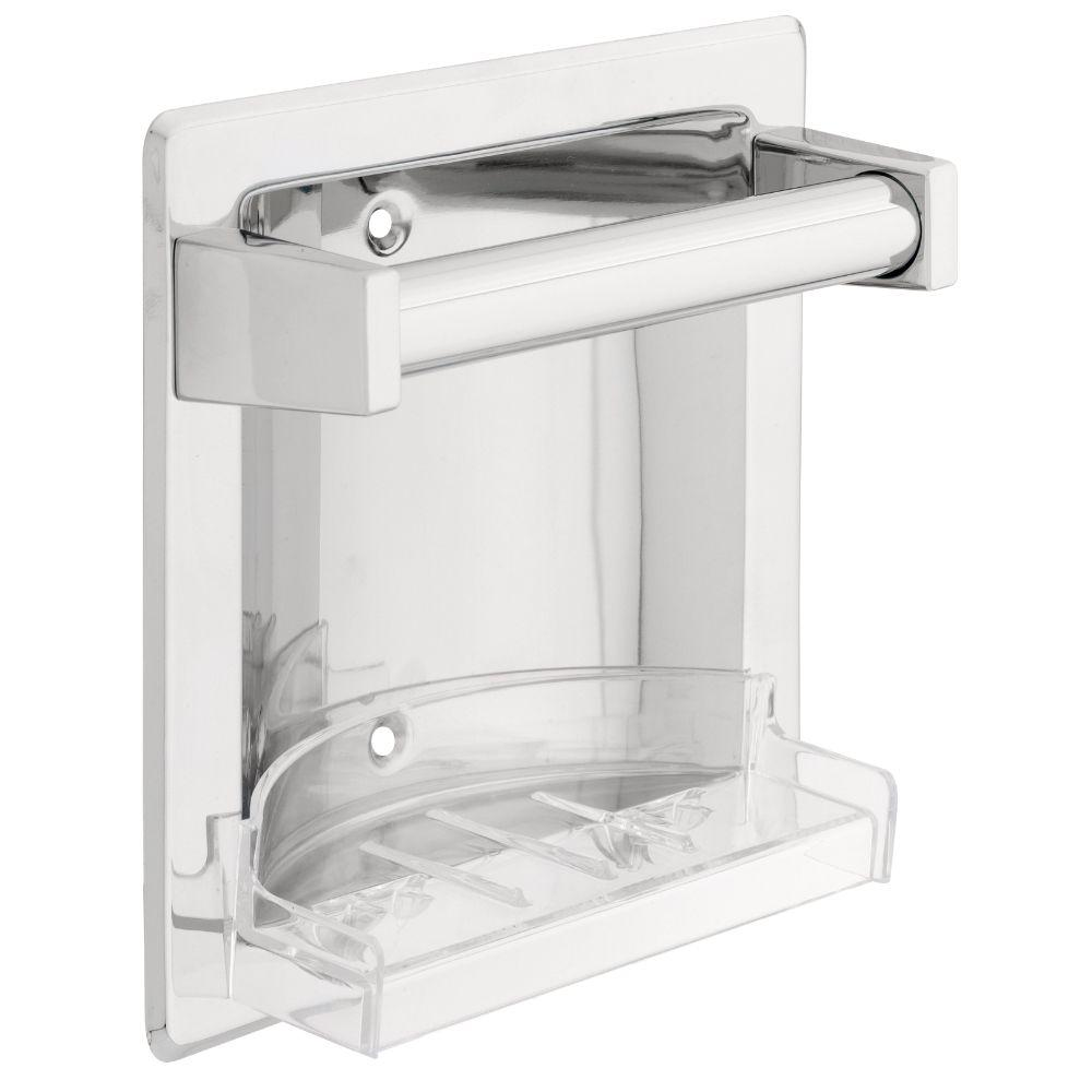 Franklin Brass Futura Recessed Soap Dish with Bar in Polished Chrome