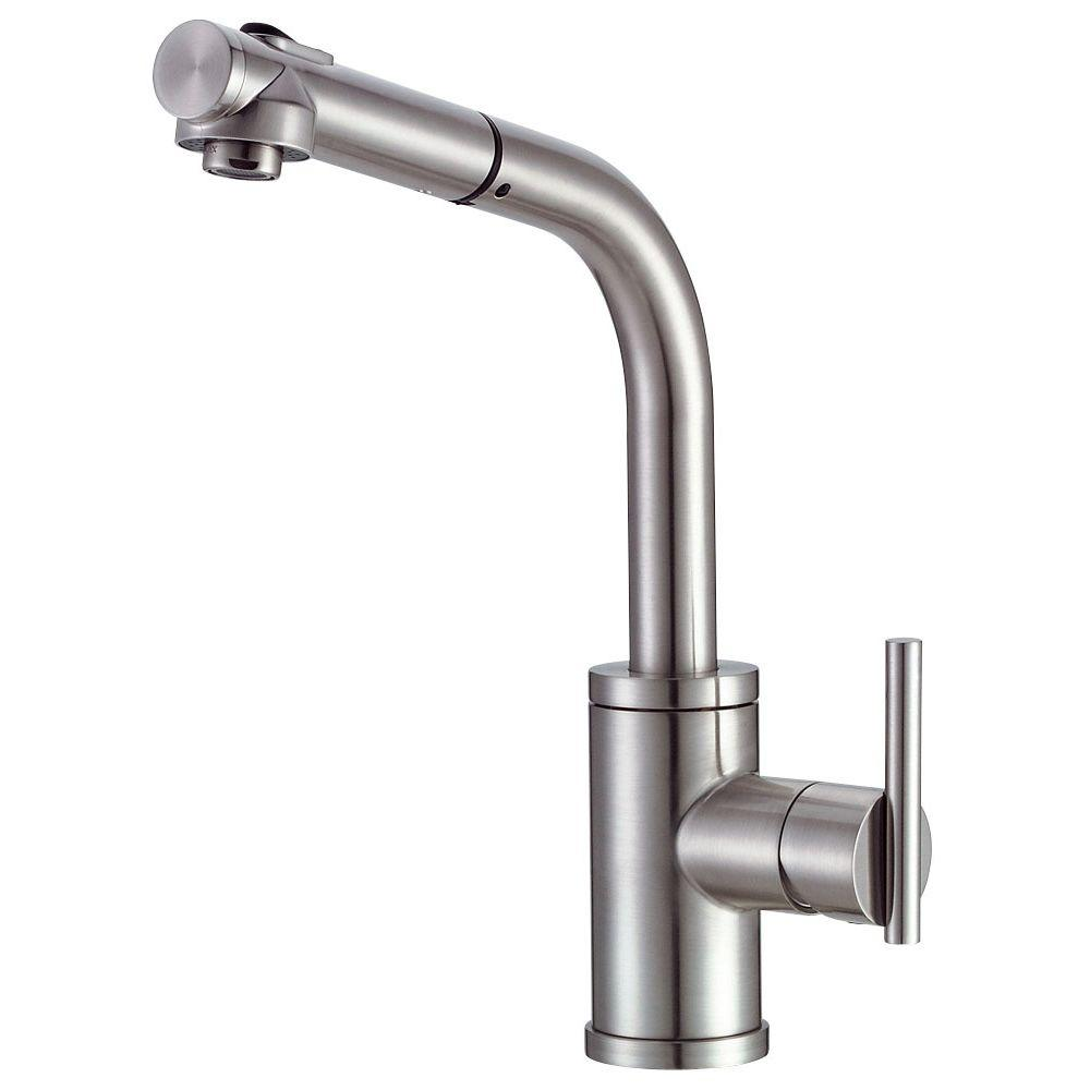 Parma Single-Handle Pull-Out Sprayer Kitchen Faucet in Stainless Steel