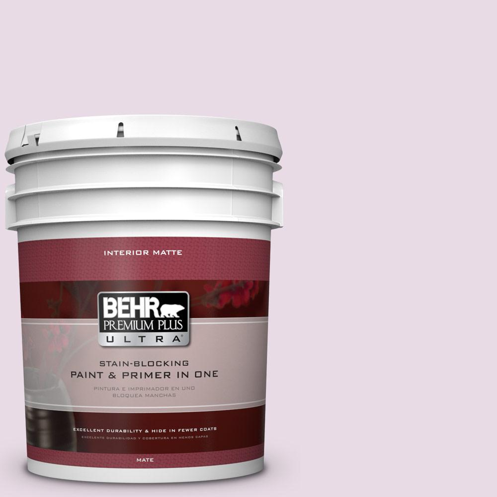 5 gal. #M110-1 Twinkled Pink Matte Interior Paint