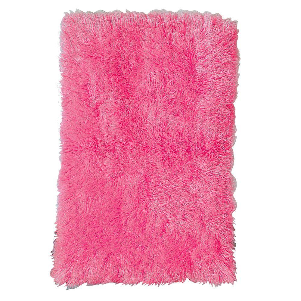 Home Decorators Collection Standard Flokati Hot Pink 8 ft. x 10 ft. Area Rug