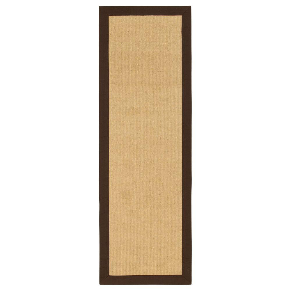 Home Decorators Collection Cove Brown 2 ft. 6 in. x 12 ft. Rug Runner