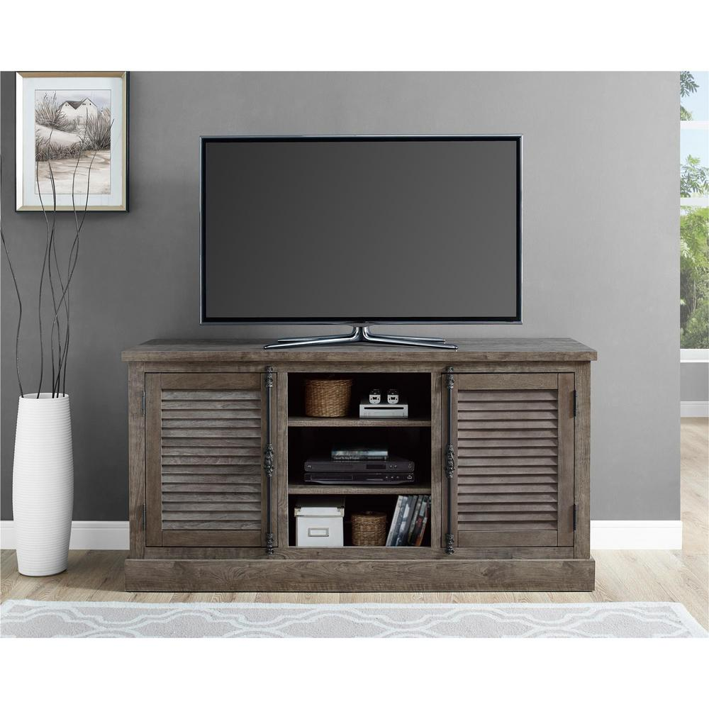 Sienna Park Rustic Gray TV Console for TVs up to 65