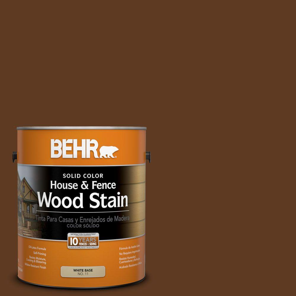 BEHR 1-gal. #SC-129 Chocolate Solid Color House and Fence Wood Stain