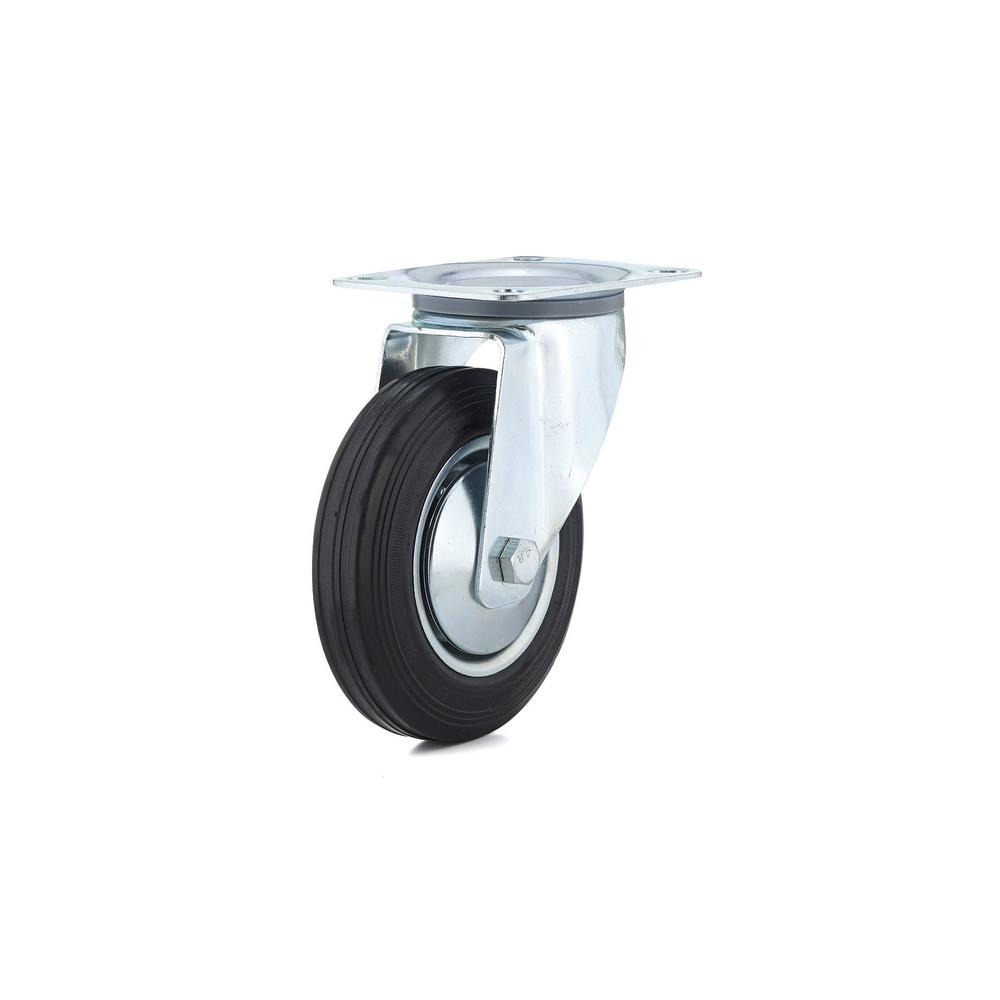 6-5/16 in. black Swivel Without Brake plate Caster, 308.7 lb. Load