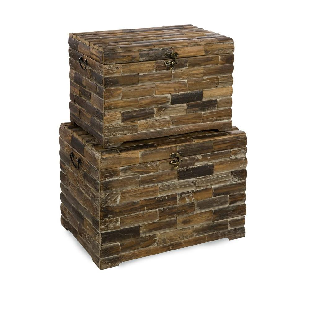 Lenor 16.75 in. Brown Reclaimed Wood Storage Chest