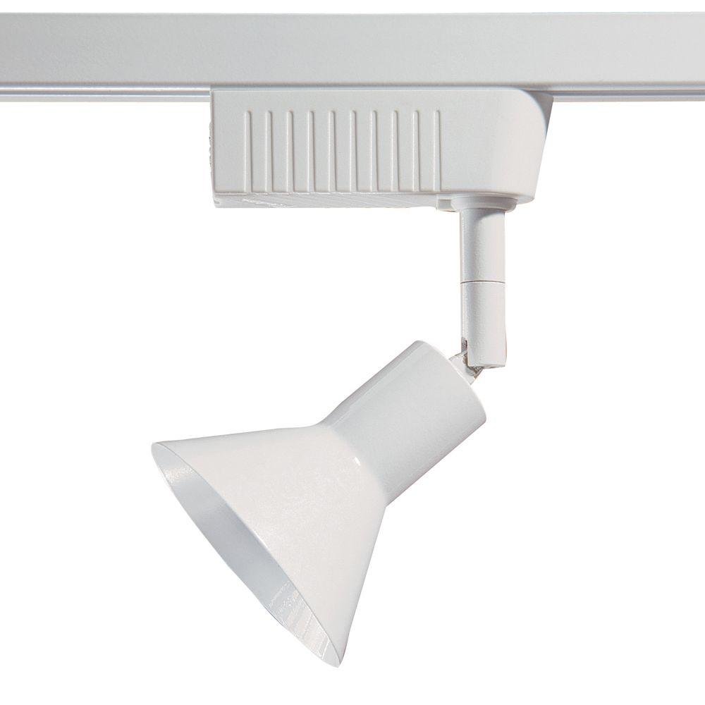 6501 Series Low-Voltage MR16 White Cone Style Track Lighting Fixture