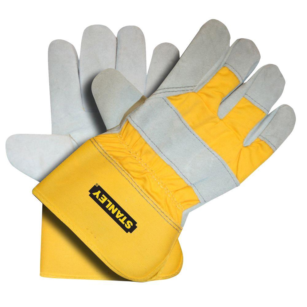 Stanley Fleece-Lined Split Leather Palm Glove-S72541 - The Home Depot