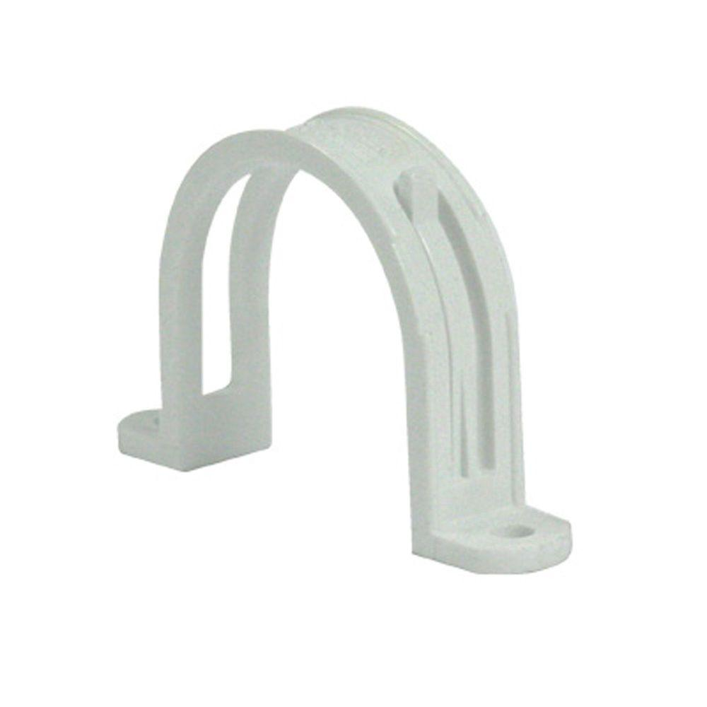NuTone Central Vacuum System White Pipe Support with Clip for Wire ...