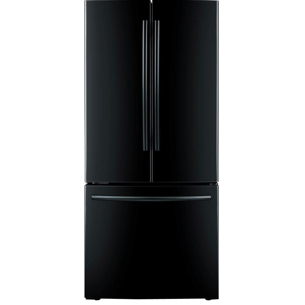 samsung 33 in w 17 5 cu ft french door refrigerator in black counter depth rf18hfenbbc the. Black Bedroom Furniture Sets. Home Design Ideas