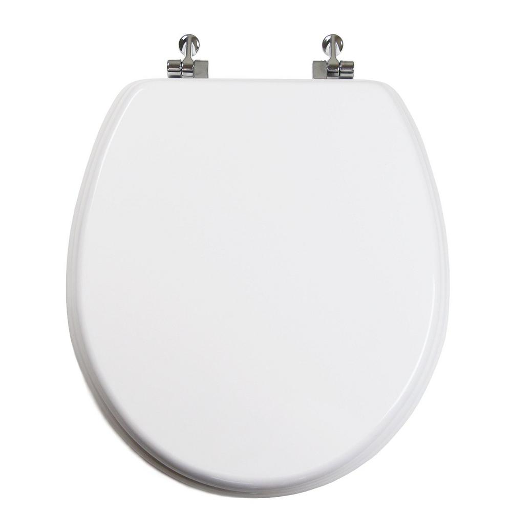 Uni Color Round Closed Front Toilet Seat in White