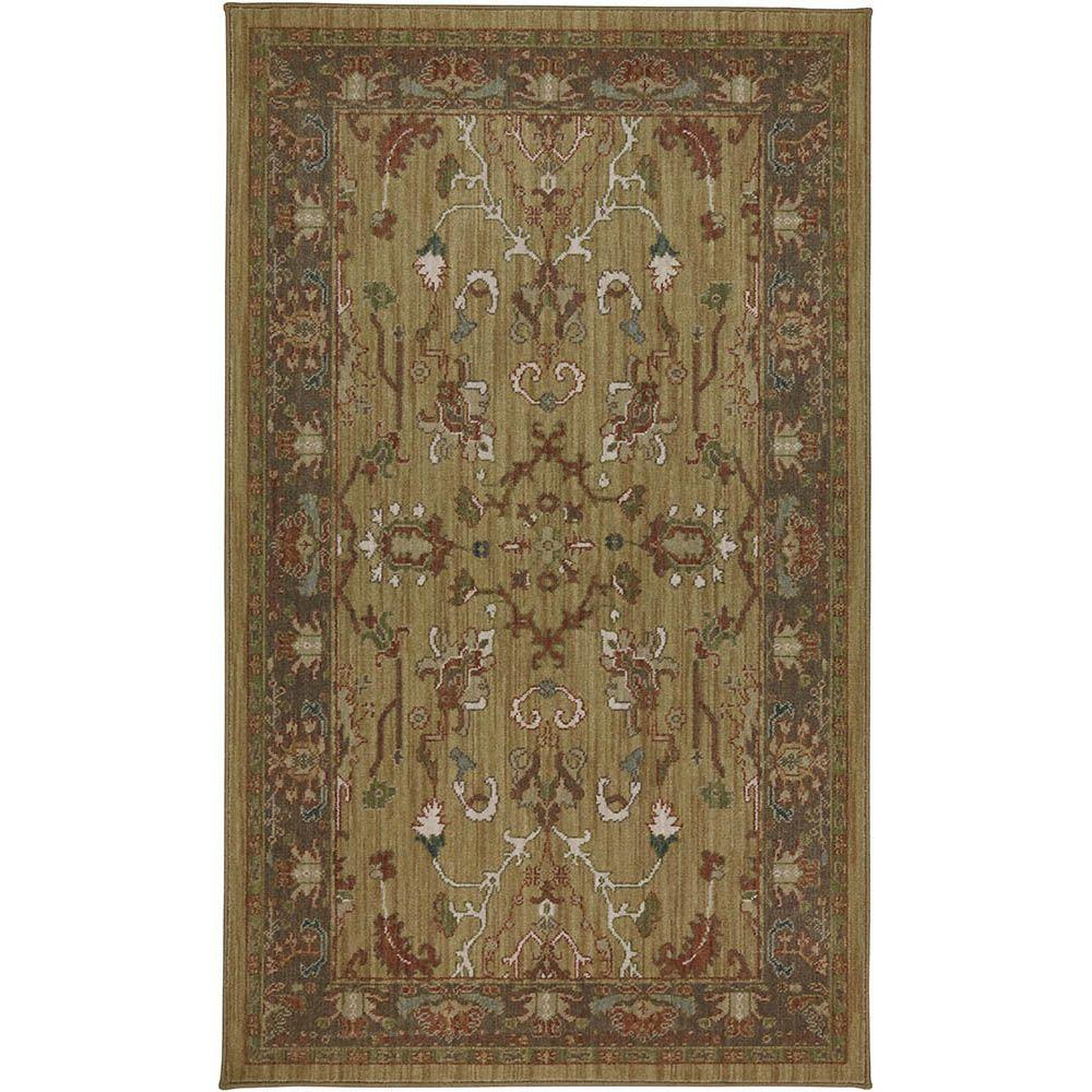 Karastan Cornwall Gold 3 ft. 3 in. x 5 ft. 6 in. Accent Rug