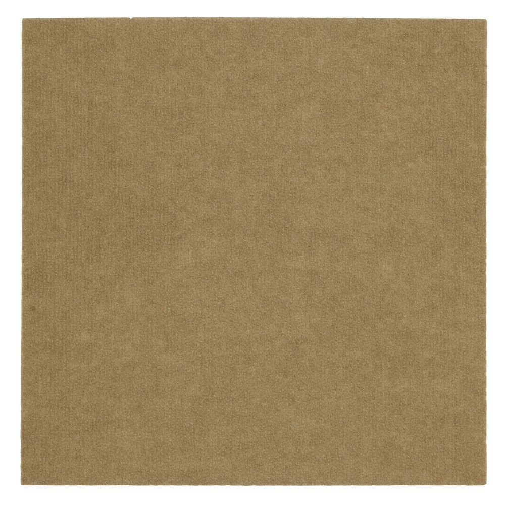 Mohawk Home Putty Ribbed 18 in. x 18 in. Carpet Tiles (16 Tiles/ Case)-DISCONTINUED