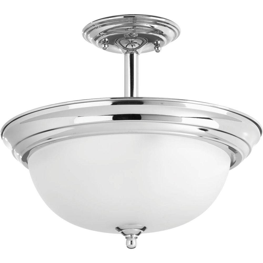 Dome Ceiling Light: Progress Lighting Dome Glass Collection 2-Light Polished