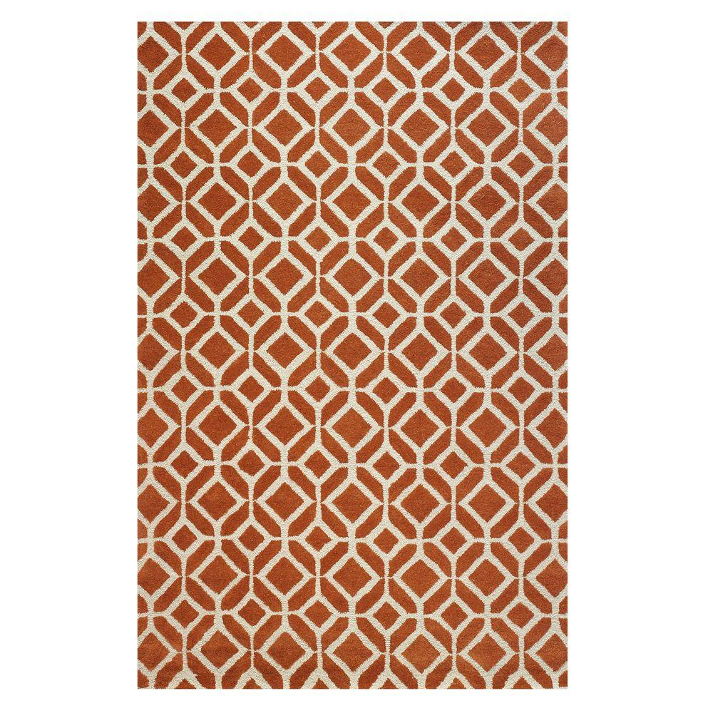 Home Decorators Collection Taza Orange 2 ft. 6 in. x 4 ft. 6 in. Area Rug