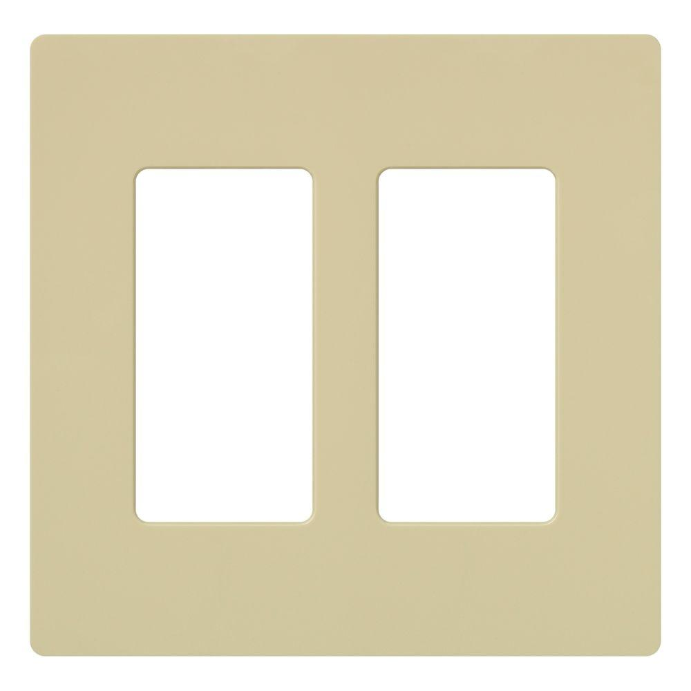 Claro 2 Gang Decora Wall Plate - Ivory