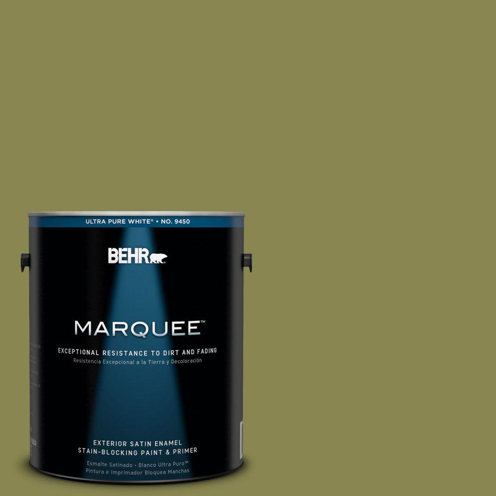 BEHR MARQUEE 1 gal. #T15-18 Snap Pea Green Exterior Satin Enamel