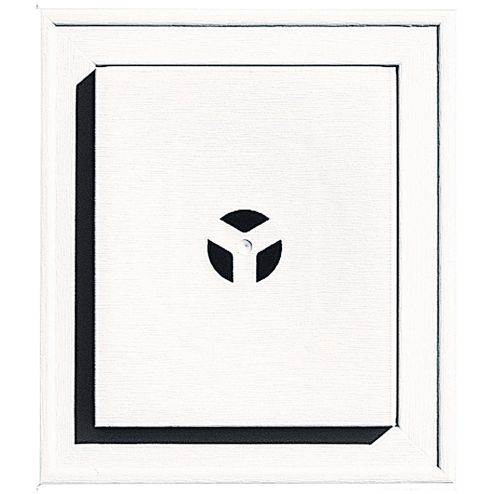 Builders Edge Square Mounting Block #117 Bright White-130110002117 - The Home