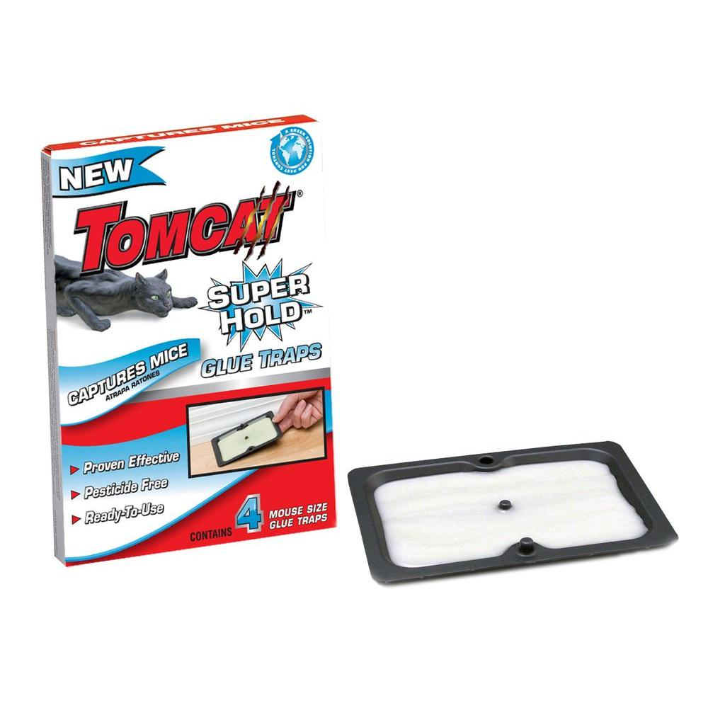 Tomcat Super Hold Mouse Glue Trap (4-Pack)-32416 - The Home Depot
