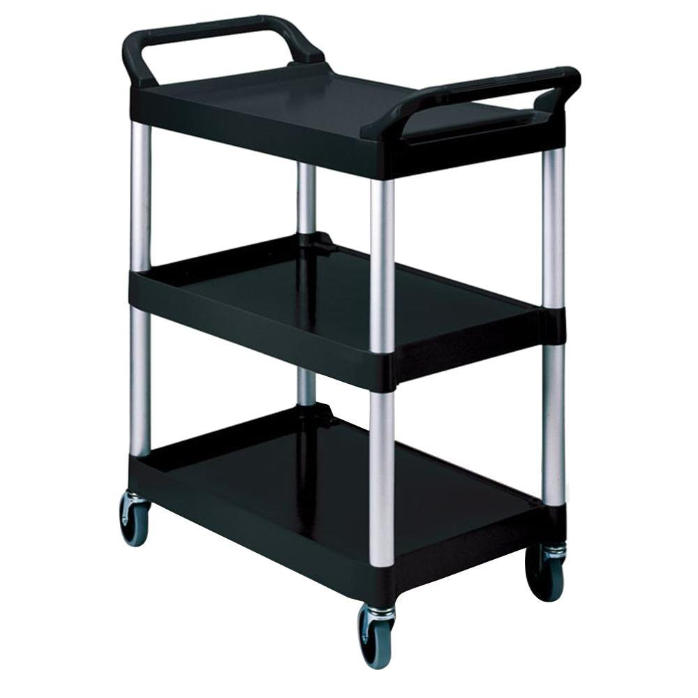 Utility Cart with 4 in. Swivel Casters in Off White, Black