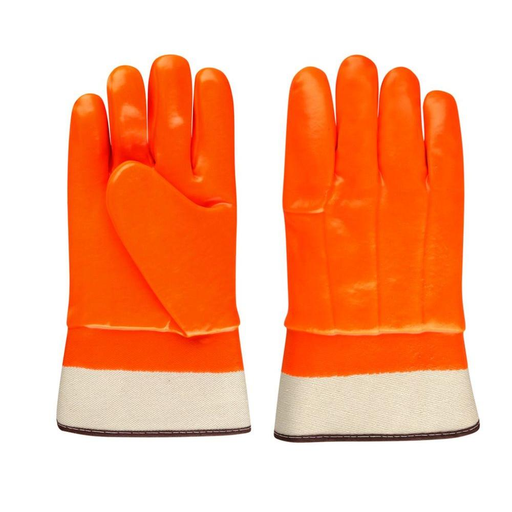 Stanley Large high visibility insulated orange PVC Work Glove-DISCONTINUED