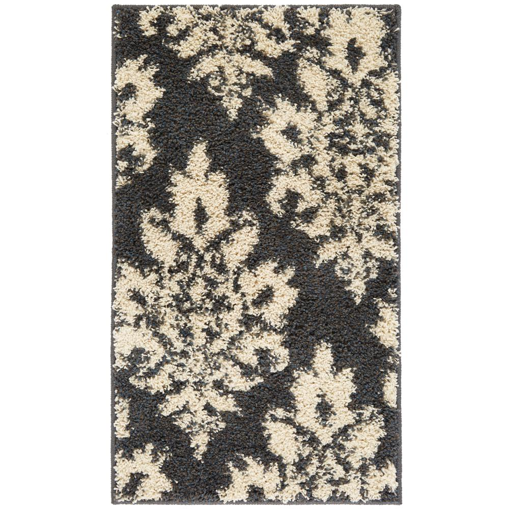 Meadow Damask Blue 1 ft. 10 in. x 3 ft. Accent