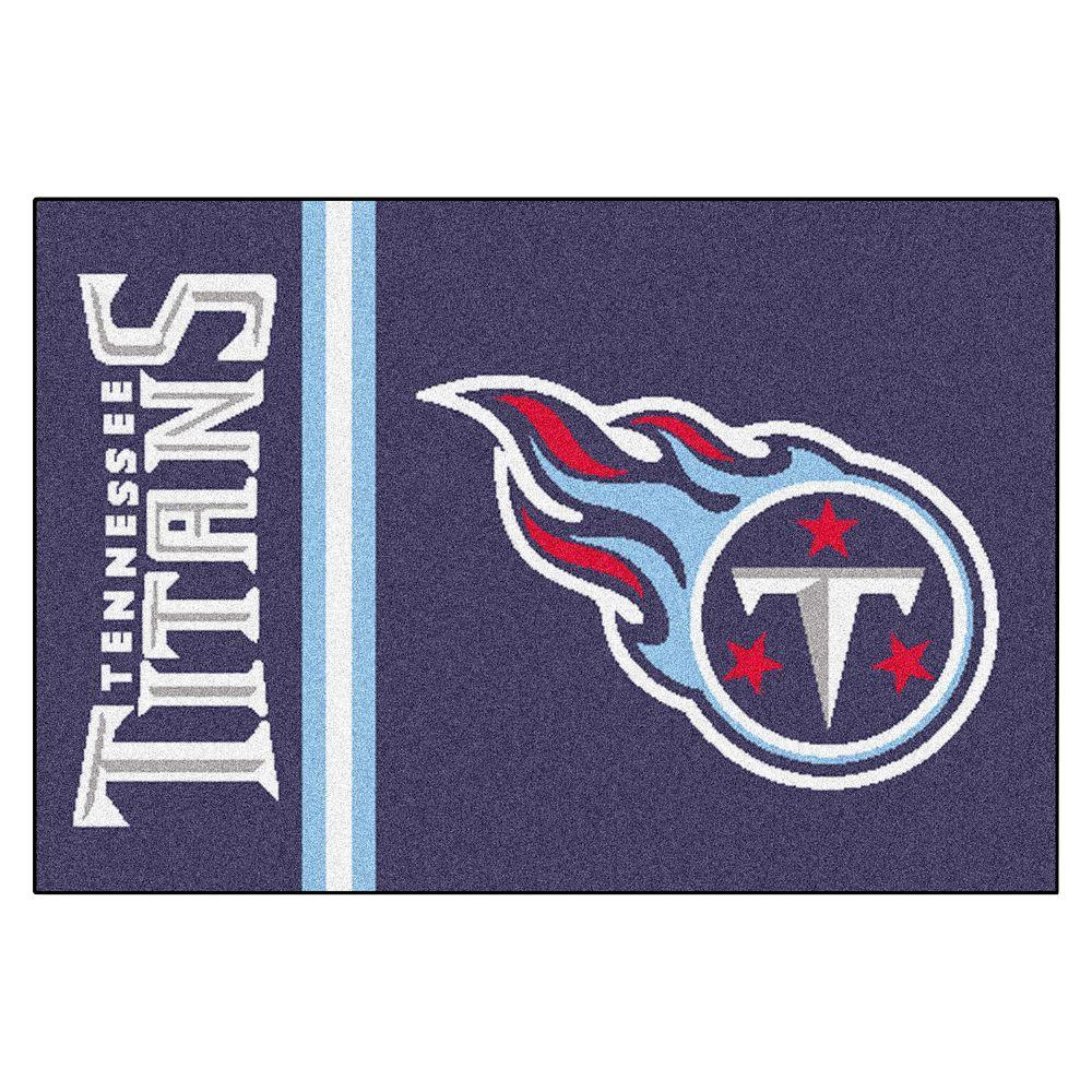NFL - Tennessee Titans Gray Uniform Inspired 1 ft. 7 in. x 2 ft. 6 in. Accent Rug, Blue