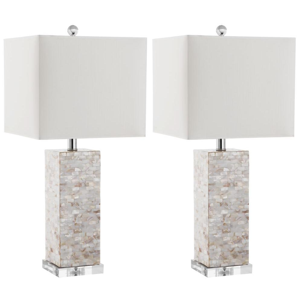 Homer 25.5 in. Shell Table Lamp (Set of 2)