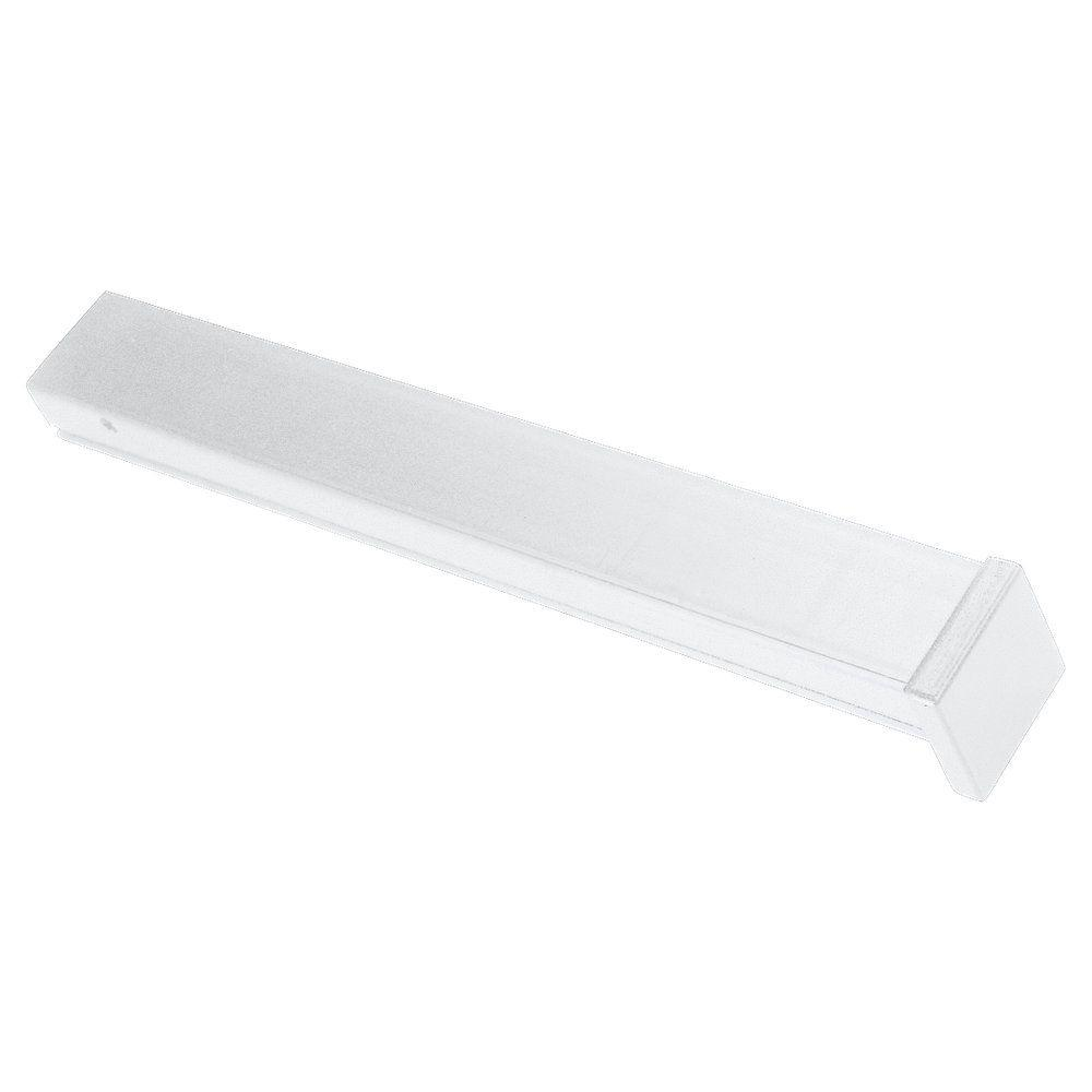 Ambiance Fascia White Polycarbonate Lx Track End Cap