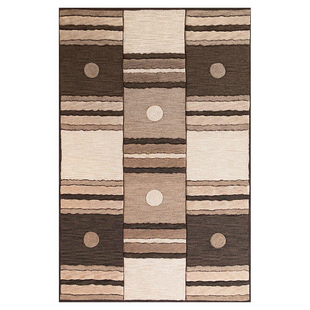 Kas Rugs Square is in Ivory/Mocha 7 ft. 9 in. x 9 ft. 9 in. Area Rug