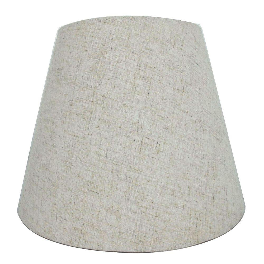 Hampton Bay Mix and Match Beige Round Accent Lamp Shade