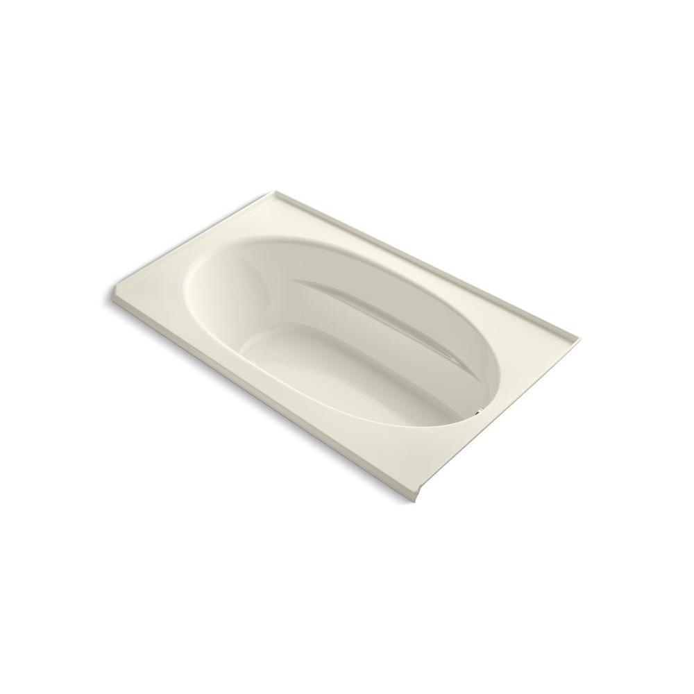Windward 6 ft. Acrylic Oval Drop-in Whirlpool Bathtub in Biscuit