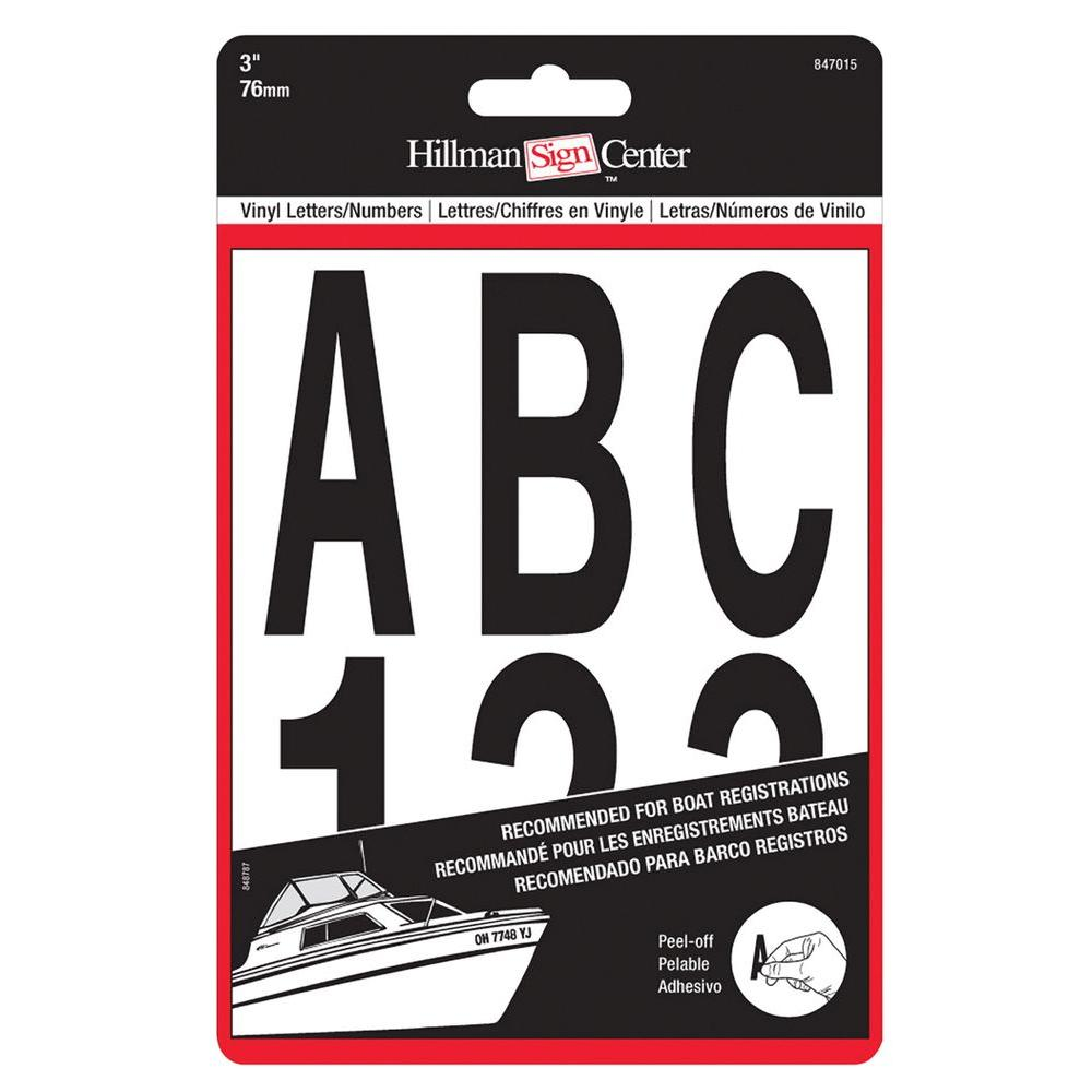 The Hillman Group 3 in. Black Die Cut Letters and Numbers Set