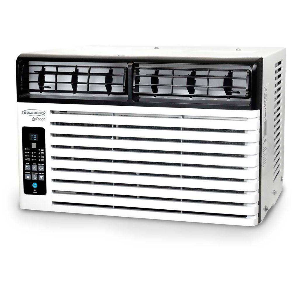 Soleus Air 6,400 BTU 115-Volt Window Air Conditioner with LCD Remote