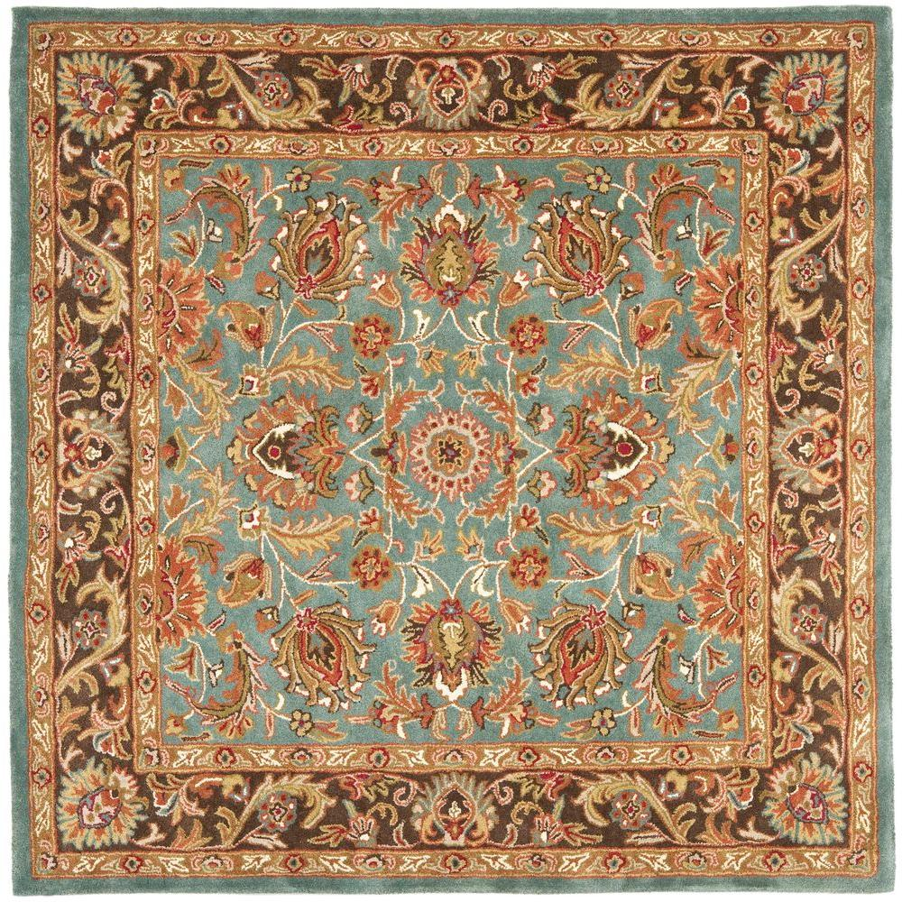 Safavieh Heritage Blue Brown 6 Ft X 6 Ft Square Area Rug