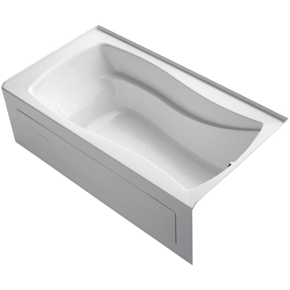 KOHLER Mariposa 5.5 ft. Right Drain Soaking Tub in White with
