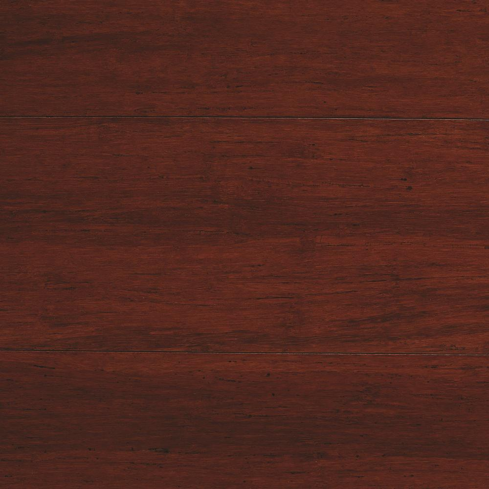 Strand Woven Mahogany (Brown) 3/8 in. Thick x 5-1/8 in. Wide x 72 in. Length Click Lock Bamboo Flooring (25.75 sq. ft. / case)
