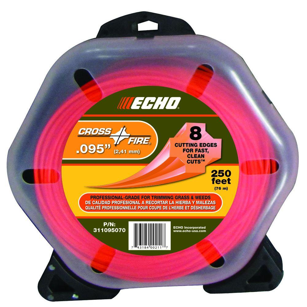 ECHO Cross-Fire 0.095 Nylon Trimmer Line-311095070 - The Home Depot