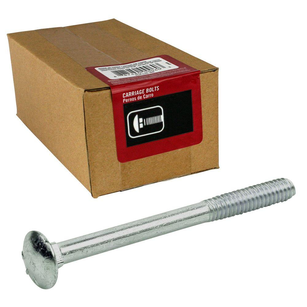 3/8 in. x 10 in. Zinc Carriage Bolt (10-Pack)