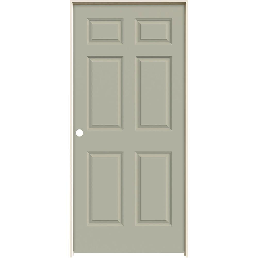 Jeld Wen 36 In X 80 In Molded Smooth 6 Panel Desert Sand Hollow Core Composite Single Prehung