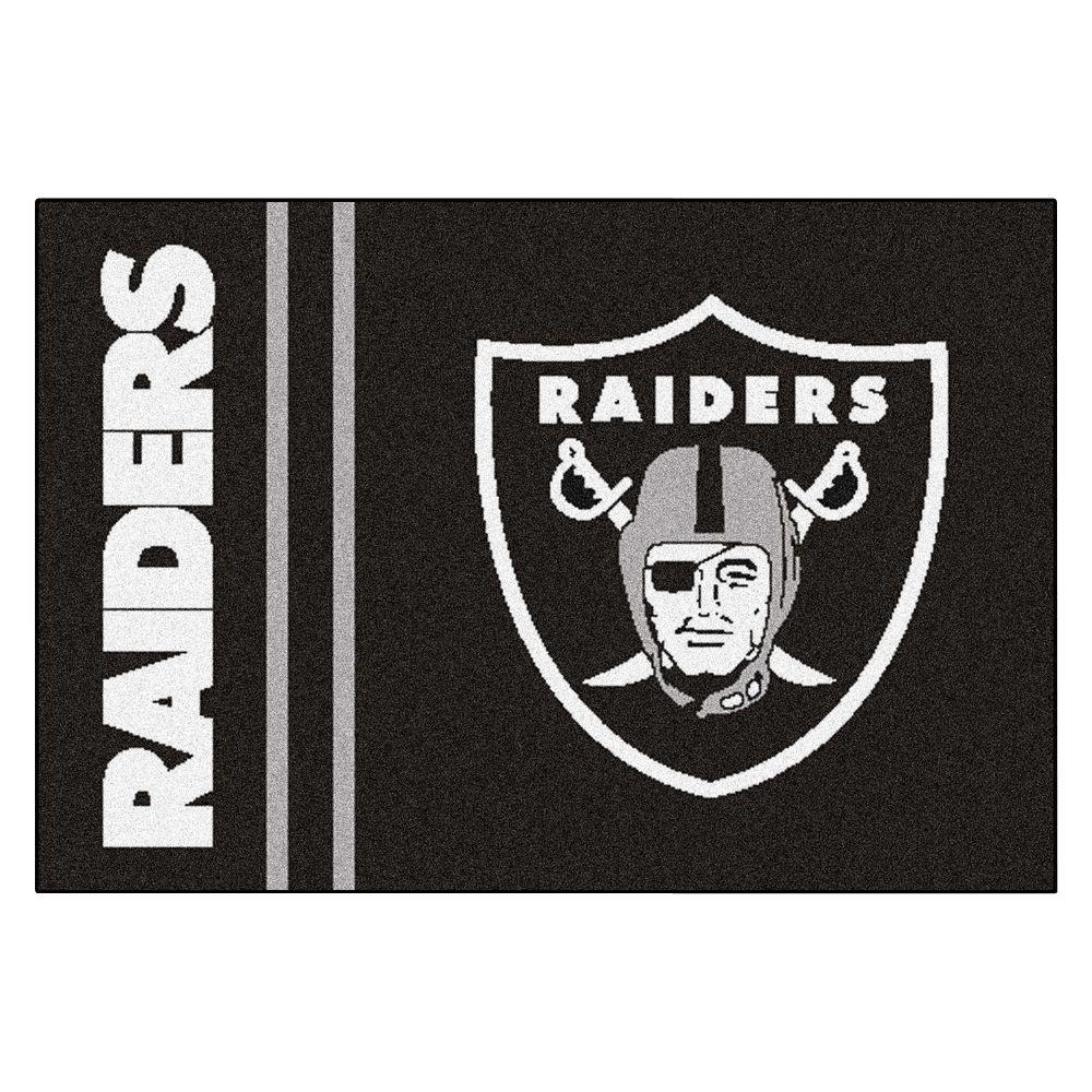 NFL - Oakland Raiders Black Uniform Inspired 1 ft. 7 in. x 2 ft. 6 in. Accent Rug