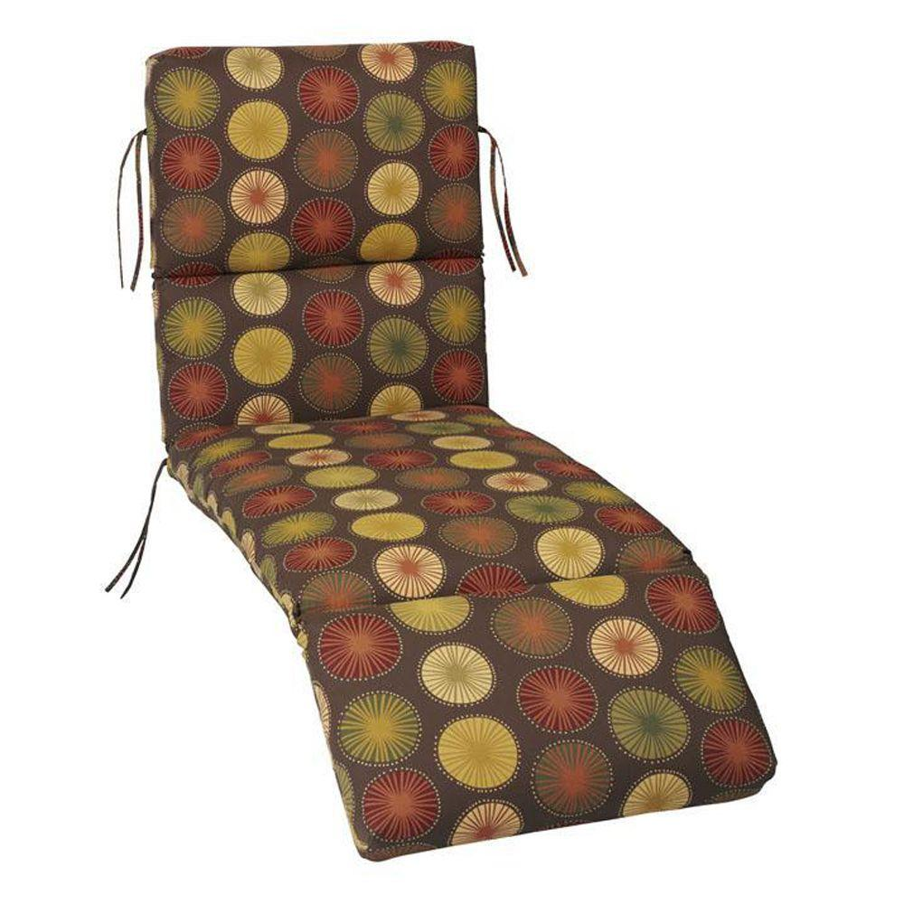 Home Decorators Collection Berringer Chocolate Polyester Outdoor Chaise Lounge Cushion