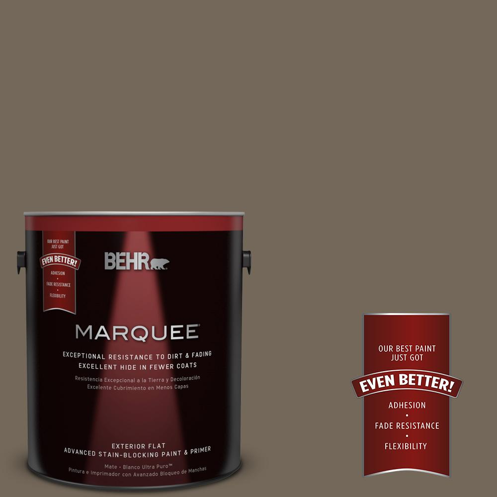 1-gal. #720D-6 Toasted Walnut Flat Exterior Paint