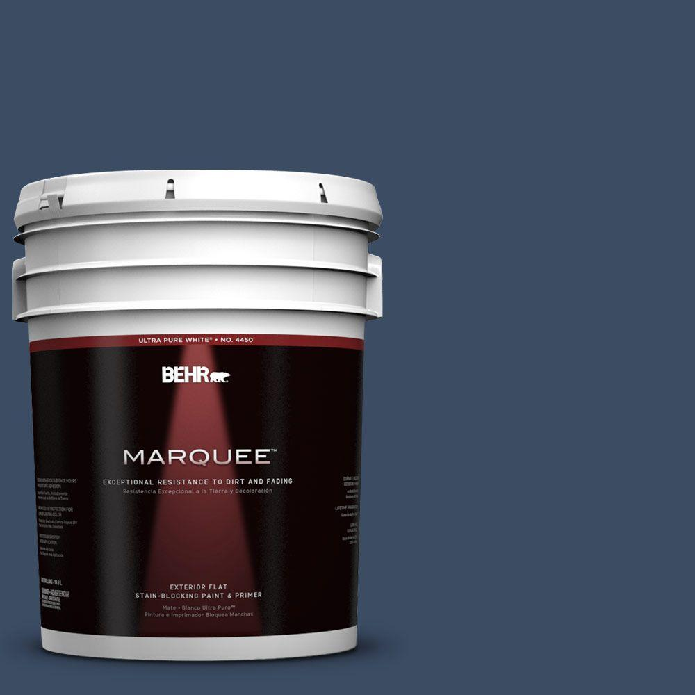 BEHR MARQUEE 5-gal. #580F-7 December Eve Flat Exterior Paint