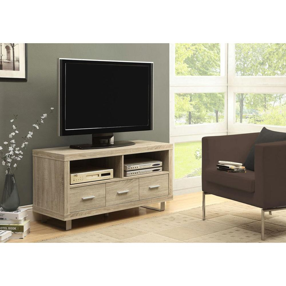 Monarch Specialties Natural Wood Entertainment Center I