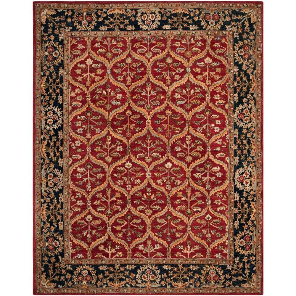 Anatolia Red/Navy 8 ft. x 10 ft. Area Rug