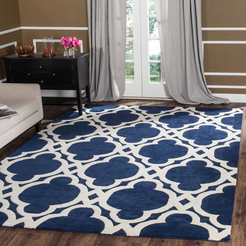Chatham Dark Blue/Ivory 5 ft. x 8 ft. Area Rug