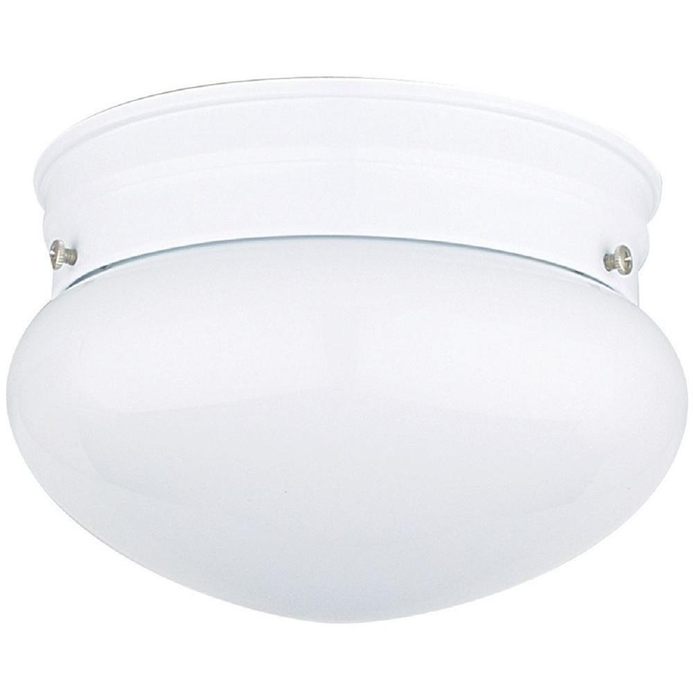 6 in. White Indoor Mushroom Ceiling Mount