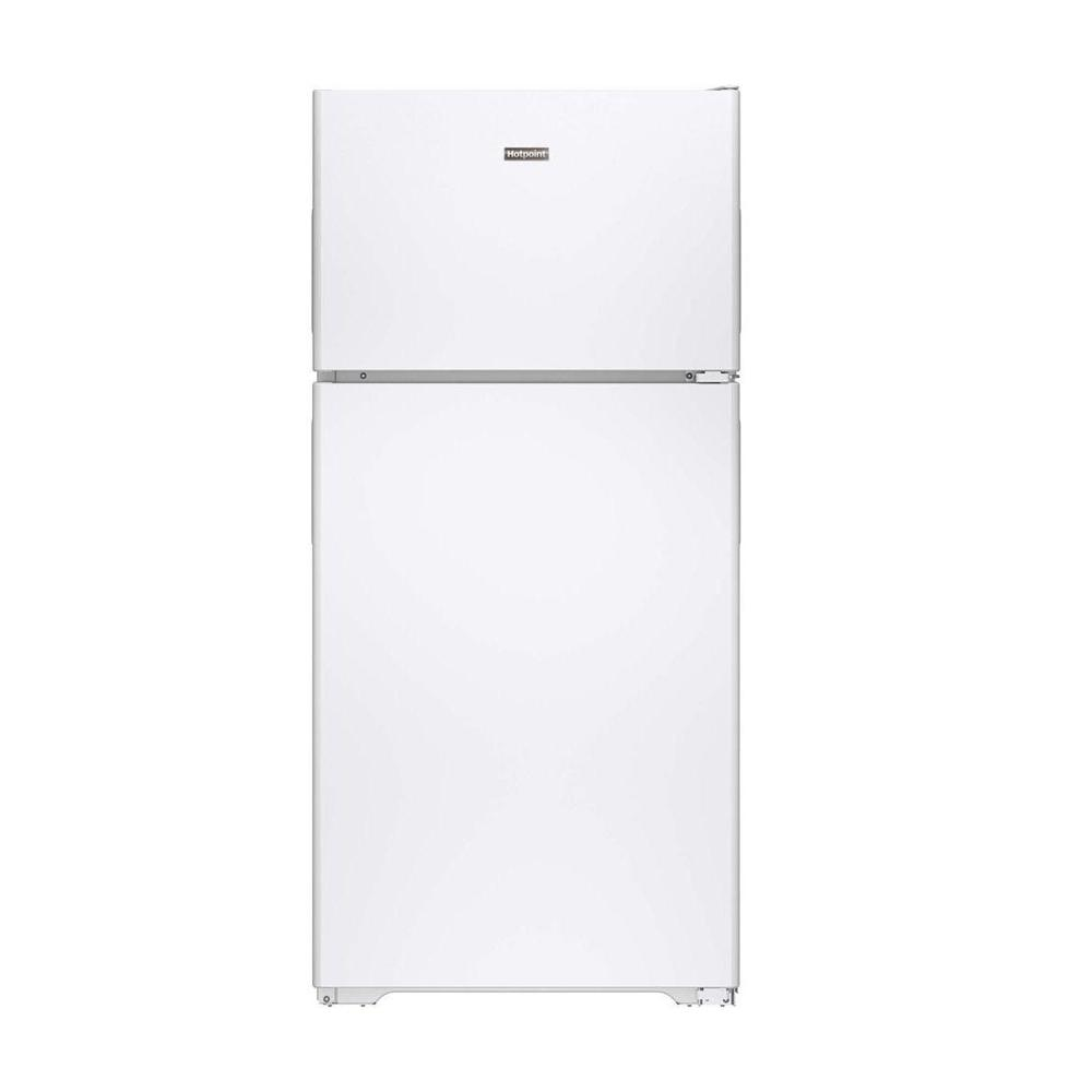 Hotpoint 14.6 cu. ft. Top Freezer Refrigerator in White-HPE15BTHWW - The