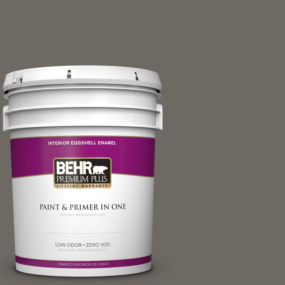 5 gal. #PPU24-04 Burnished Pewter Zero VOC Eggshell Enamel Interior Paint