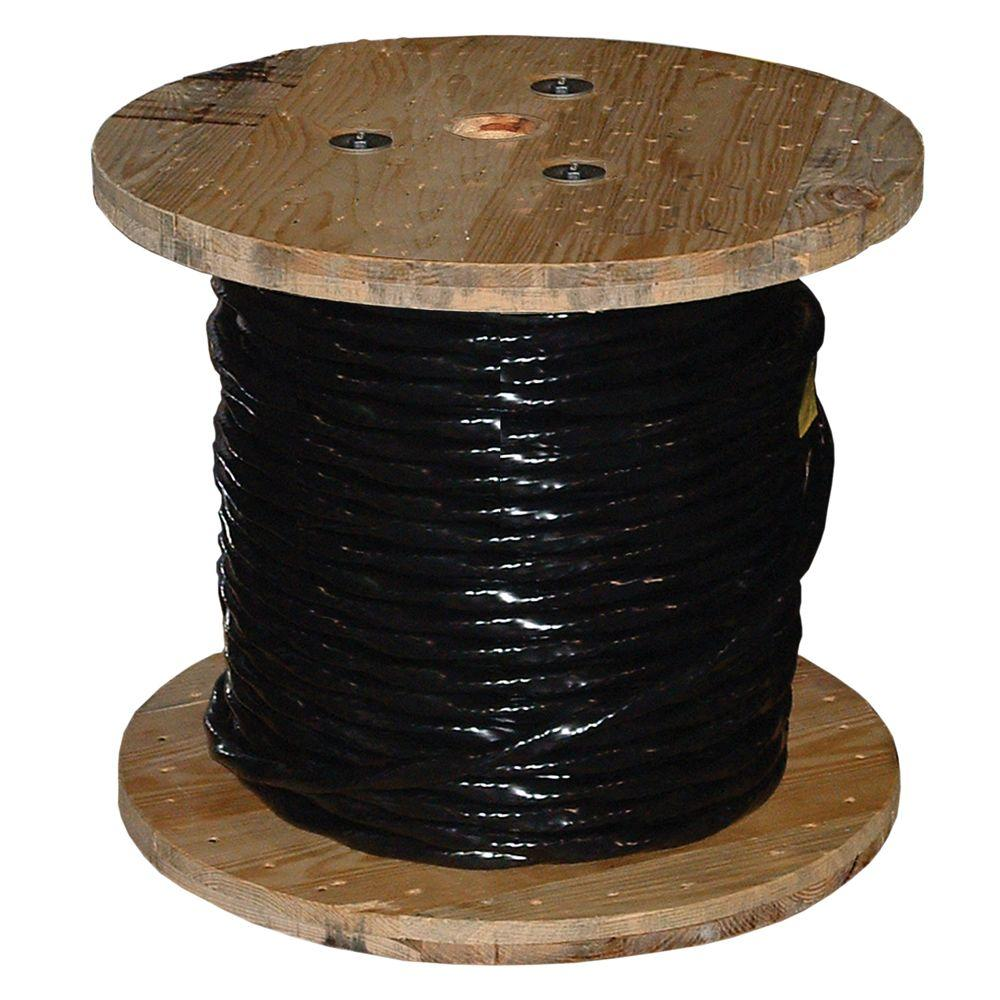 Southwire 1000 ft. 2 Black Stranded CU USE Wire